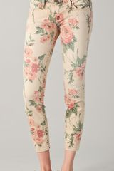 Current/Elliott The Stiletto Floral Jeans