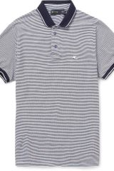 Etro Striped Cotton Polo Shirt - Lyst