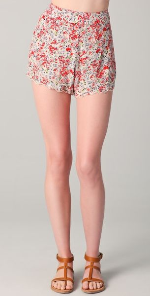 Free People Printed Flirty Shorts - Lyst