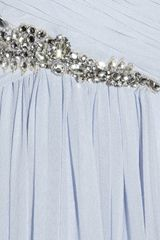 Marchesa Embellished Silkchiffon Gown in Blue (lilac) - Lyst