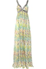 Matthew Williamson Zebra-print Silk-chiffon Gown - Lyst