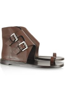 Michael Kors Buckled Leather Sandals - Lyst