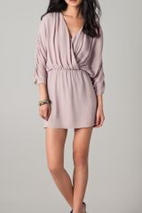 Parker Long Sleeve Ruched Dress - Lyst