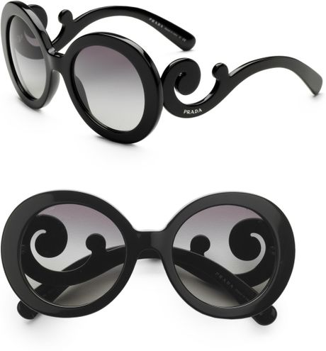 Prada Baroque Sunglasses in Black - Lyst