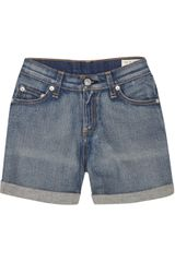 Rag & Bone High-rise Stretch-denim Shorts - Lyst