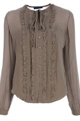Ralph Lauren Ruffled Blouse - Lyst