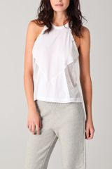 T By Alexander Wang Cotton Netting Combo Tank - Lyst