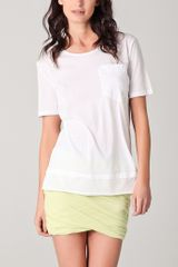 T By Alexander Wang Lightweight Roll Trim Tee - Lyst