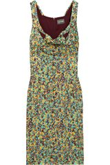 Zac Posen Printed Silk Dress - Lyst