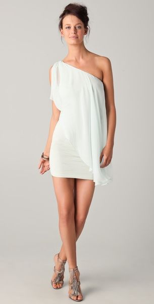 Alice + Olivia Draped One Shoulder Dress - Lyst