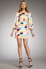 Alice + Olivia Sandra Box-print Shift Dress - Lyst