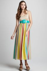 Alice + Olivia Wade Belted Maxi Dress - Lyst
