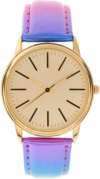 ASOS Collection Multi Colour Metallic Watch - Lyst