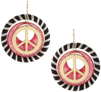 ASOS Collection Asos Peace Silk Wrapped Earrings - Lyst