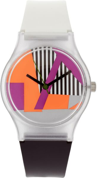 ASOS Collection Asos Rave Rubber Watch - Lyst