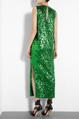 By Malene Birger Emerald Green Amukaji Sequin Maxi Dress in Green (emerald) - Lyst