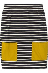 Chinti And Parker Striped Cotton Mini Skirt - Lyst