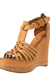 Chloé Wrapped-wedge T-strap Sandal - Lyst