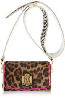 Christian Louboutin Carrie Animal-print Calf Hair Shoulder Bag - Lyst