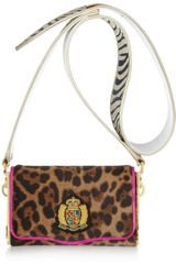 Christian Louboutin Carrie Animalprint Calf Hair Shoulder Bag in Animal - Lyst