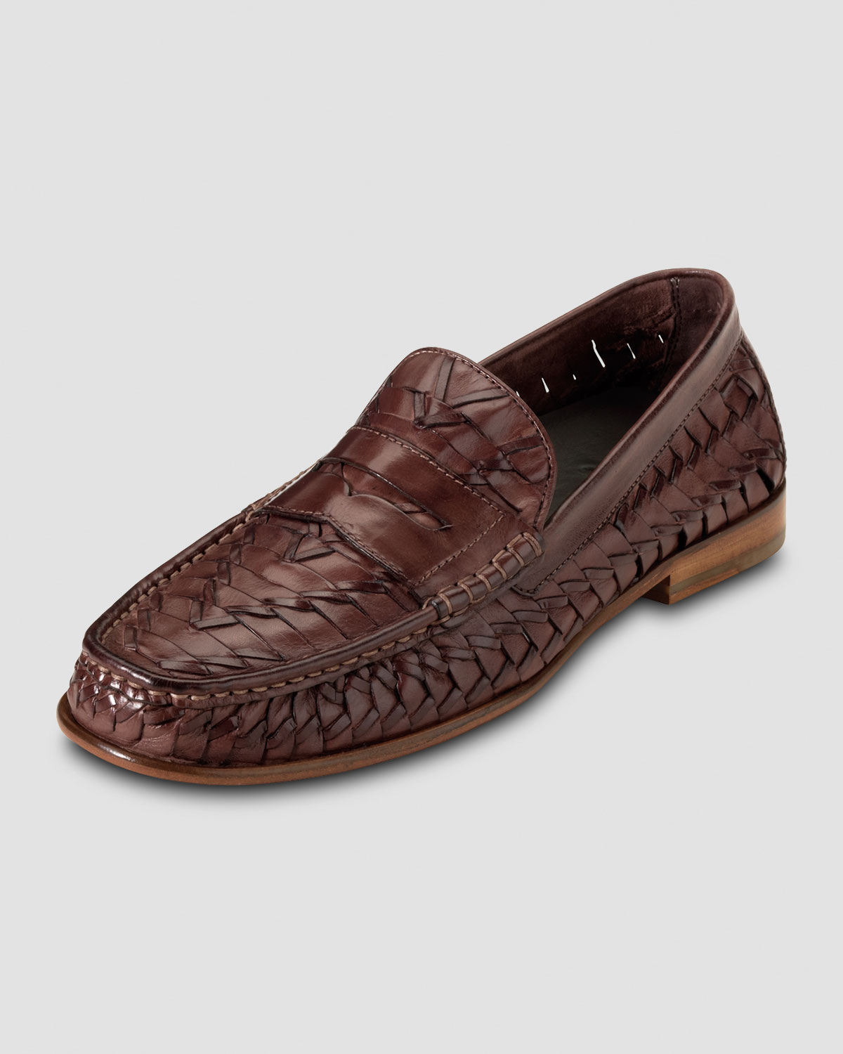 476e2d02385 Lyst - Cole Haan Air Tremont Woven Penny Loafer in Brown for Men