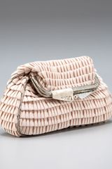 Fendi Pleated Satin Evening Bag - Lyst