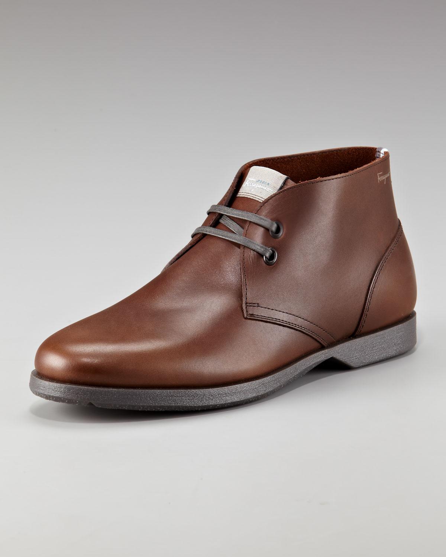 ferragamo metro 2 chukka boots in brown for lyst