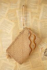Free People Vintage Straw Clutch - Lyst