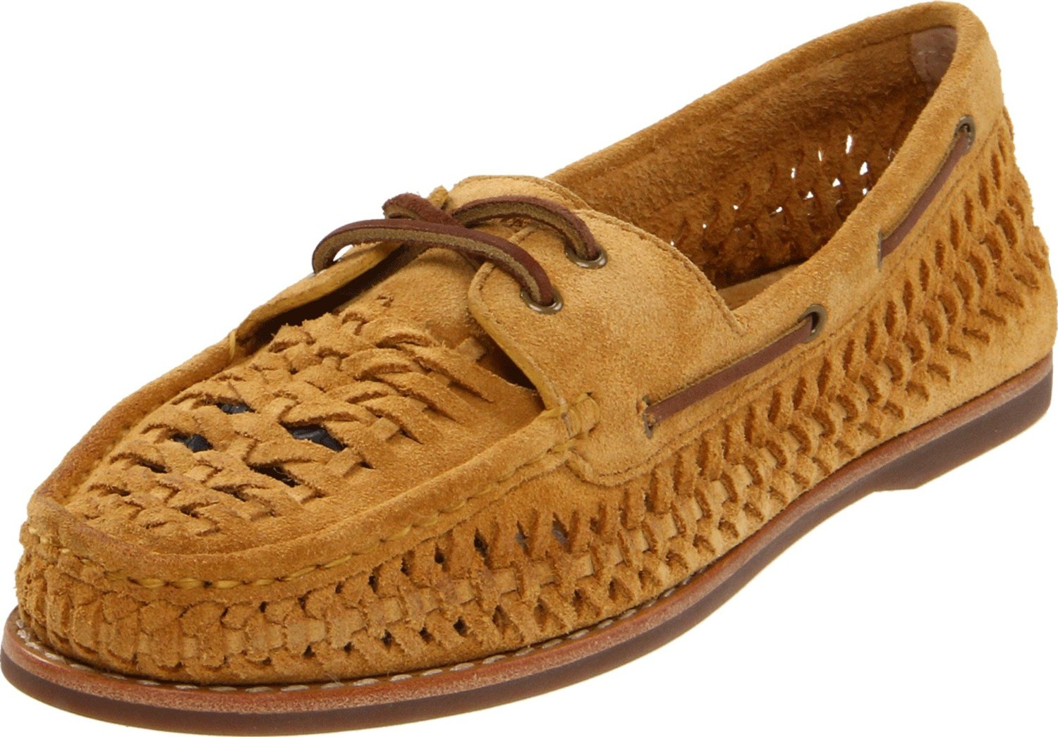Frye Womens Quincy Woven Boat Shoe In Yellow Mustard Lyst