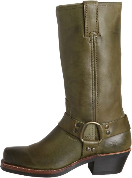 Frye Womens Harness 12r Boot In Green Olive Lyst