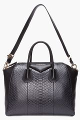 Givenchy Python Antigonia Medium Tote in Black - Lyst
