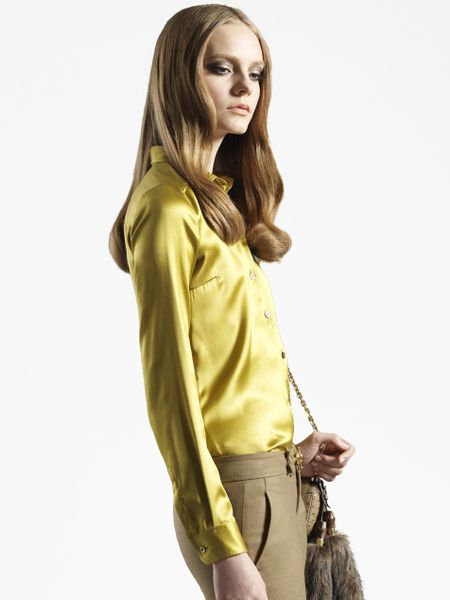 Yellow Satin Blouse 60