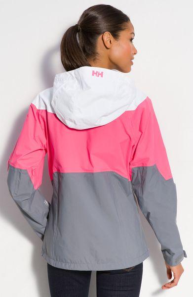 Helly Hansen Vancouver Packable Rain Jacket In Pink Black
