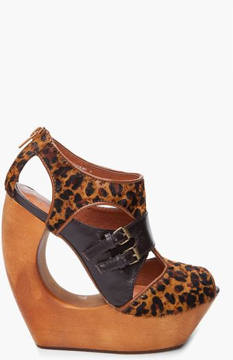 Jeffrey Campbell Pony Hair Leopard Print Booties - Lyst