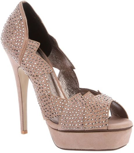 Jeffrey Campbell Stud Embellished Pump in Beige (nude) - Lyst