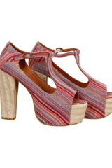 Jeffrey Campbell Foxy Espadrille In Red Multi - Lyst