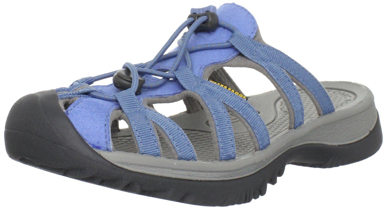 Keen Womens Whisper Slide Sandal In Blue Allure Neutral