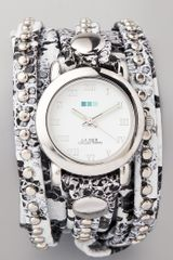 La Mer Collections Snakeskin Bali Stud Wrap Watch - Lyst