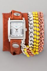 La Mer Collections Crystal Chain Wrap Watch - Lyst