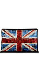 Lulu Guinness Sequinned Union Jack Oversized Felicity - Lyst
