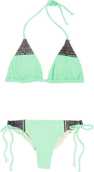 Mara Hoffman Embroidered Triangle Bikini - Lyst