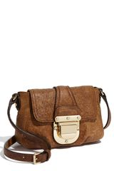 Michael by Michael Kors Charlton Ostrich Embossed Crossbody Bag - Lyst