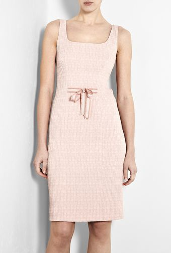 Moschino Cheap & Chic Pink Crinkle Pencil Dress - Lyst
