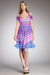 Nanette Lepore Talent Striped Silk Dress - Lyst