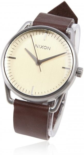 Nixon Mellor Watch in Beige for Men (cream)