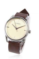 Nixon Mellor Watch in Beige for Men (cream) - Lyst