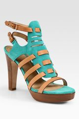 Rag & Bone Apollo Suede and Leather Platform Sandals - Lyst