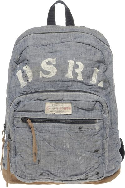 Ralph Lauren Chambray Backpack In Blue For Men Lyst