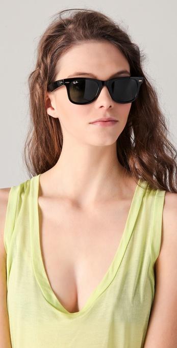 Lyst - Ray-Ban Original Wayfarer Sunglasses in Black 49ddf5169f