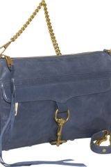 Rebecca Minkoff Mac Clutch in Blue (denim) - Lyst